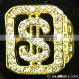 Best quality imitation diamond ring for boys, imitation gold plated wedding finger ring