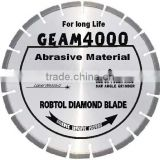 Laser welded segmented small diamond saw blade fot long life cutting extremely abrasive material -- GEAM