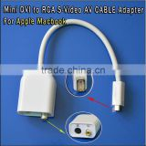 Mini dvi to HDMI male Mini dvi to usb cable Mini DVI to RCA S-Video AV CABLE Adapter dvi to dp converter for Apple Macbook
