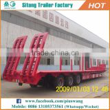 Factory Price 3 axles low bed trailer / 50 tons To 120 tons low bed semi trailer for special transports
