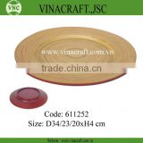 Vietnam coilded bamboo charger plate for sale