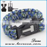 Firestarter buckle with logo paracord bracelet ,350/480/550 paracord survival bracelet