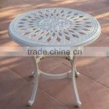 restaurant coffee table outdoor cast aluminum side table white color bistro table assembly #IVY14218