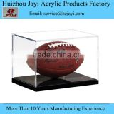 Football display case full size cut out base holds ball acrylic memorabilia collectible showcase