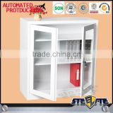 Cold rolled steel plate glass door low iron two door filing cabinet