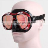 2016 latest scuba diving equipment, diving set, tempered glass diving mask with optical degree (OPT-2603)