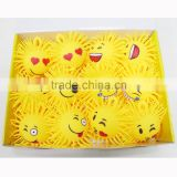 2170414-1 emoji sunflower LED lighting puffer ball expression ball miling face