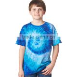 Custom Made Kids boy Top Quality Basic Tee Shirt in Tie Dyed 3d