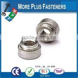 Made in Taiwan Stainless Steel Non locking Floating Self Clinching Nut
