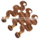 Shengyuan 7A Colored 27# Honey Blonde Brazilian Hair Weave Accept Paypal Pure Natural Color 10 To 24 Inch