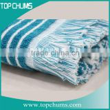 100% cotton wholesale Hamam Fouta turkish pestemal towel with tassel