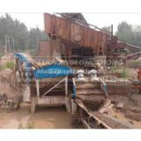 50t sand recycling line, include sand washer and vibrating feeder dewatering screen And recycling machine,