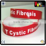 "Medical Alert Silicone Wristband Bracelet Red/White Sz 8"" Cystic Fibrosis/wedding decoration"