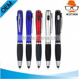 Business 3 in 1 led light tip ball pen with stylus flashlight led ballpoint pen