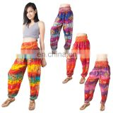 Tie Dye Women's Harem Pants Boho Baggy Genie Yoga Aladdin Trousers Pants