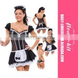 2017 Carnival Halloween Seductive Fancy Black Maid Party Dress Costumes