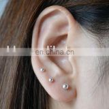 Ball Bead Stud Sterling Silver Earring Different Diameter Size Ball Earring Stud Set