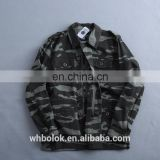 Custom logo chinese clothing manufacturers military style mens camouflage jackets wholesale long sleeve camo mens cotton jackets