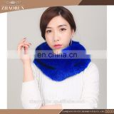 chinese fashion knitted mink fur scarf real knitted mink fur snood for women