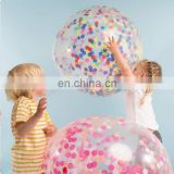 confetti balloons 12 inch 36 inch clear transparent wedding decoration party confetti balloon