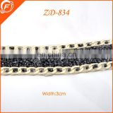 2014 classic metal beads chain with rhinestone for garments necklace decoration