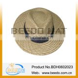 Summer Straw Hat,Round Top Straw Hat,Men Straw Boater Hat