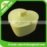 Heart shape foldable Silicone food bowls