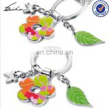 PROMOTION WOMEN GIFT STYLISH METAL SPRING FLOWER KEYCHAIN