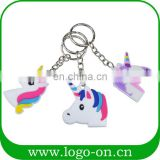 Newest soft PVC unicorn custom keychain