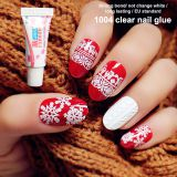 1g clear  Nail glue liquid cyanoacrylate nail art for fake nail