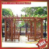 outdoor garden sunshade wood look style aluminium alu aluminum metal park garden gazebo grape trellis Pergola vine grids shelf