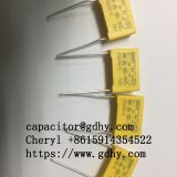 MKP-X2 safety capacitor  104/0.1uF 275VAC Pitch15mm Metallized polypropylene film capacitors power electromagnetic interference suppression film capacitors used for LED Lighting /switch