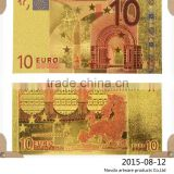 Euro 10 24K Gold foil colorful banknotes With COA Frame for sale