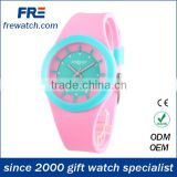 new arriving colorful lady watches with silicone material fashion lady watch customizing