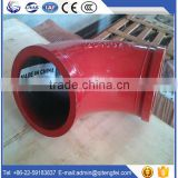 Abrasive resistance concrete pump delivery line concrete pump bend pipe, carbon steel elbow