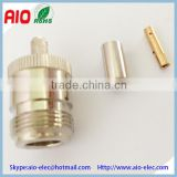 N female crimp type connector for RG6U RG58 RG59                                                                         Quality Choice