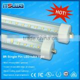 Wholesale price LED t8 tube light 8 feet single pin led tube 96 inch 2400mm tube fixture