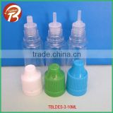 10ml wholesale PET plastic e liquid bottles for e cigarette liquid oil bottle TBLDES-3-10ml