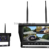 100% Factory CE RoHS 2.4Ghz Digital Wireless 4 Channel Quad and Split Screen 12-32V 700TVL Vehicle Security Camera System