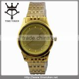 Fancy Vogue Gold Gift Promotional Ladies Stainless Steel Watches With Sand Blasting Face