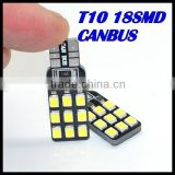 NEW 2015 T10 Canbus bulb 194 168 W5W 2835 18LED SMD Car Side Wedge Light Bulb Error Free Auto Car clearance light