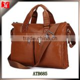 100% genuine leather handbags long strap messenger bag china