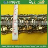 High quality fashion beaded trim with seed beads for clothing M101