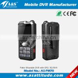 Police Body Worn Camera Portable DVR Wearable DVR With 2.5 TFT LCD Screen