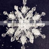 white acrylic snowflake, christmas snowflake accessory                                                                         Quality Choice