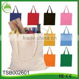2016 wholesale supermarket eco organic cotton foldable canvas bag, tote bag, shopping bag
