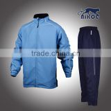 full zip up windproof sports tracksuit/mens polyester training tracksuit jogging suit