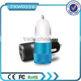 CE ROHS FCC Approved Output DC 5V 2.1A Portable Dual USB Car Charger Micro USB Car Charger