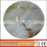 Best quality white onyx hairdressing salon wash basins