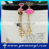 Free shipping oil drip lip shape cuff earring E1588